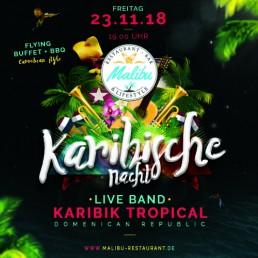 Karibische Nacht am 23.11.2018 ab 19:00 mit Liveband