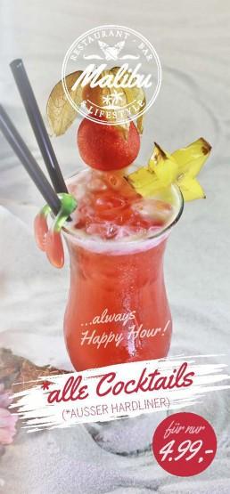 Malibu Cocktailkarte